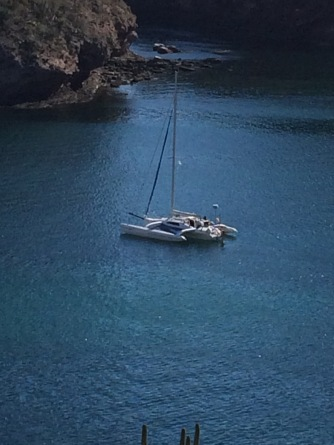 Anchored at Martini Cove, Mexico